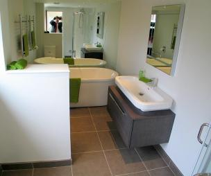 photo of olive white bathroom ensuite ensuite bathroom