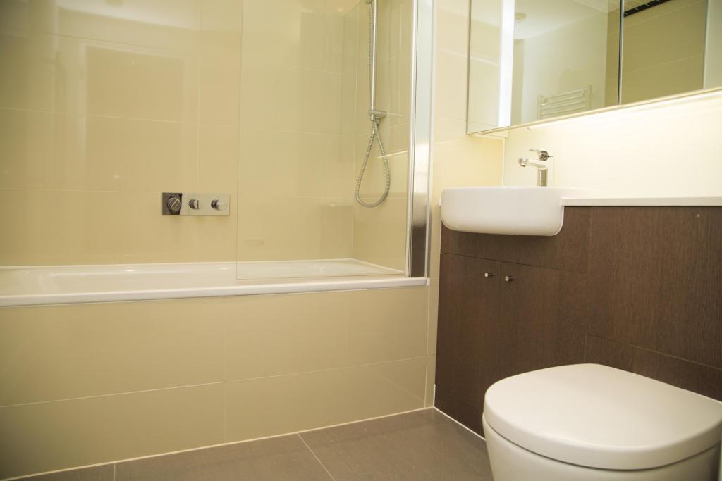 Bathroom with built