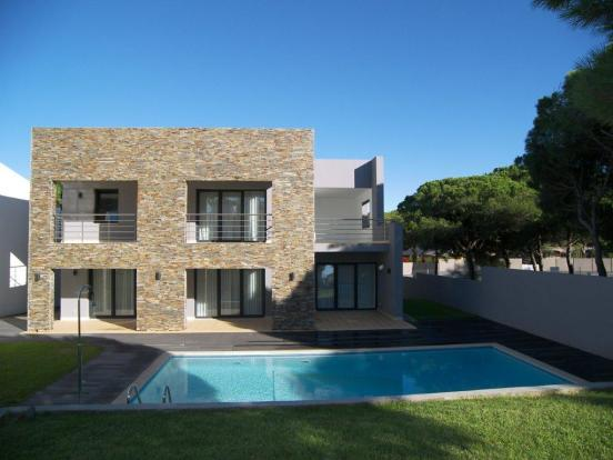Villa exterior from swimming pool