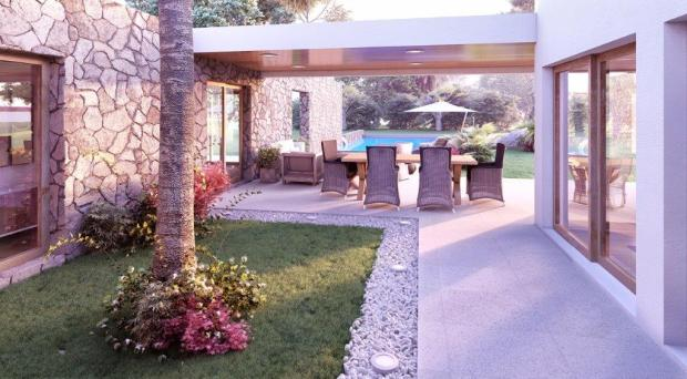 3D image of patio