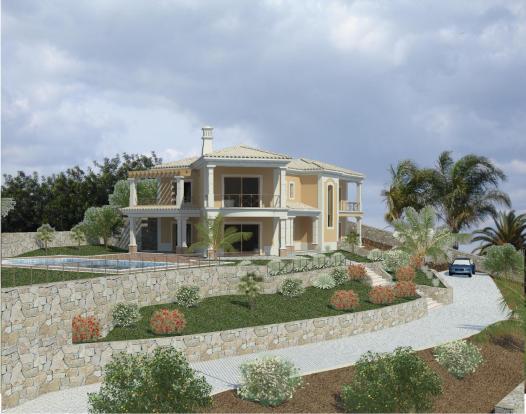 villa exterior 3D image