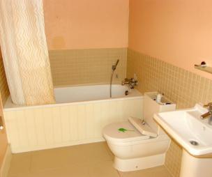 Tiles bathroom design ideas photos inspiration for Peach tile bathroom ideas