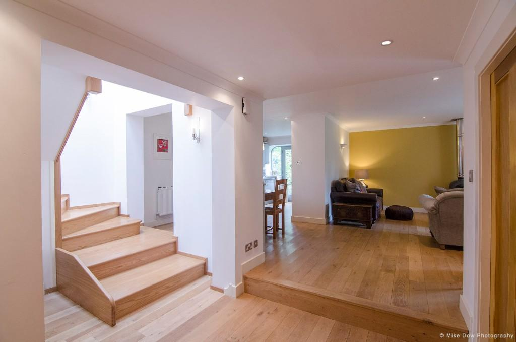 Stairs and lounge
