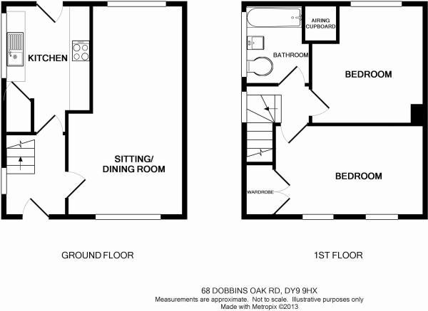 2 bedroom end of terrace house for sale in stourbridge for Dobbins homes floor plans