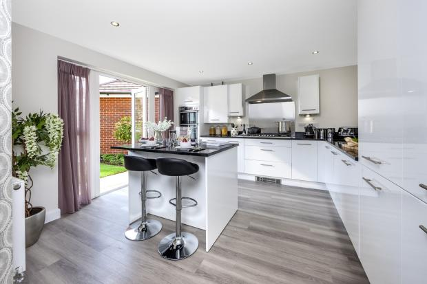 The Moorecroft kitchen at Spireswood Grange, Hurstpierpoint