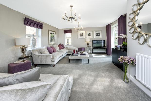 The Moorecroft living room at Spireswood Grange, Hurstpierpoint