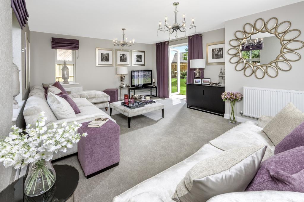 The Moorecroft living room at Spireswood Grange, Hurstpierpoint
