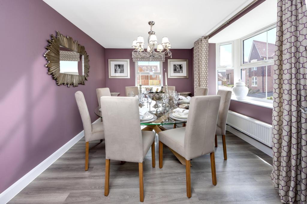 The Moorecroft dining room at Spireswood Grange, Hurstpierpoint