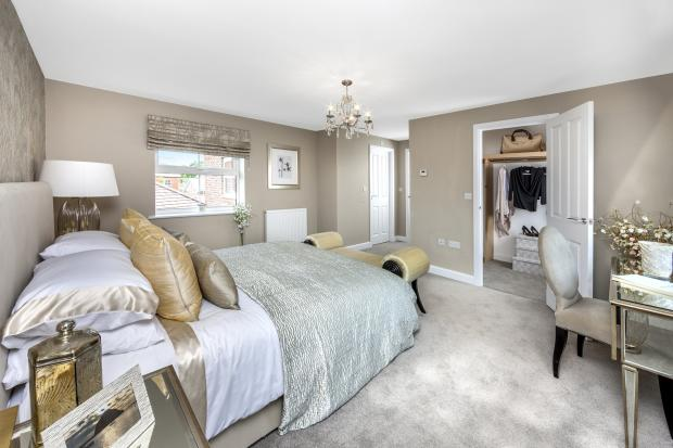The Moorecroft bedroom 1 at Spireswood Grange, Hurstpierpoint