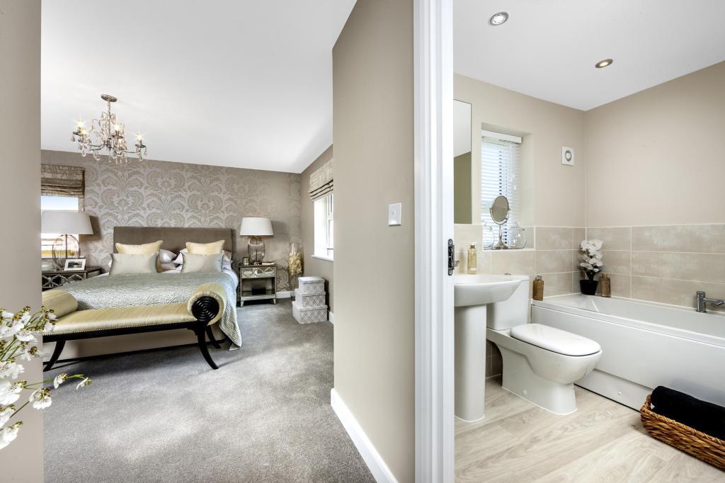 The Moorecroft bedroom 1 at Spireswood Grange, Hurstpierpoint