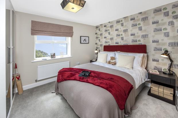 The Moorecroft bedroom 5 at Spireswood Grange, Hurstpierpoint