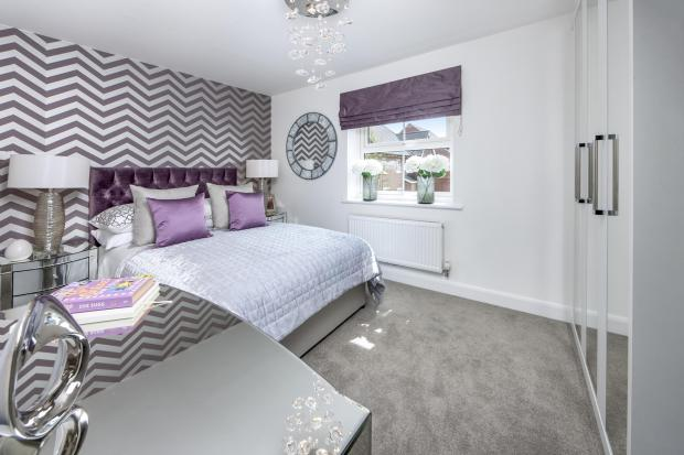 The Moorecroft bedroom 3 at Spireswood Grange, Hurstpierpoint