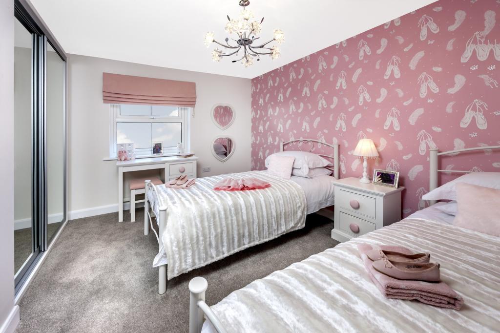 The Moorecroft bedroom 4 at Spireswood Grange, Hurstpierpoint