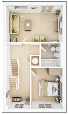 Danbury - First Floor Plan