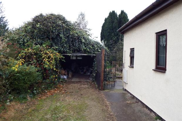 Driveway and side ac