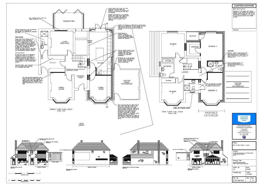 BUILDING REGS FLOORPLAN AND ELEVATIONS