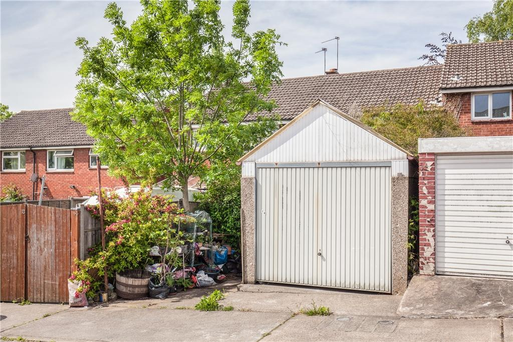 Garage at rear of property