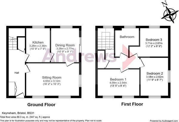 16 Fairacres Close Floorplan