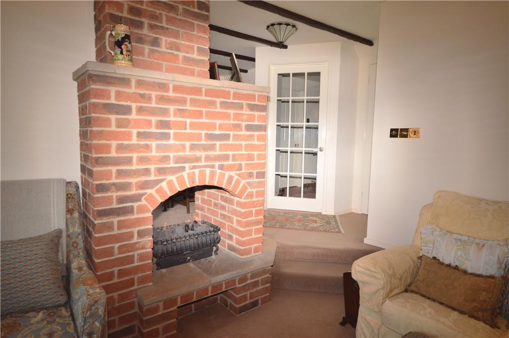 fireplace with real flame gas fire.