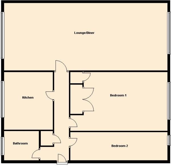 Birch Court- top floor
