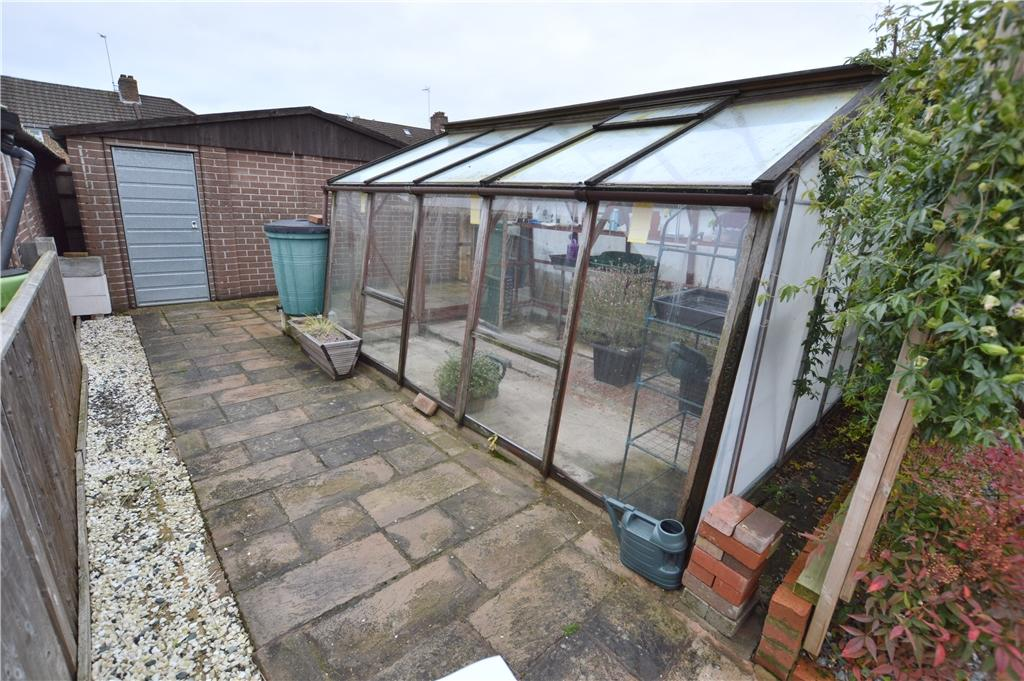 Greenhouse and rear garage