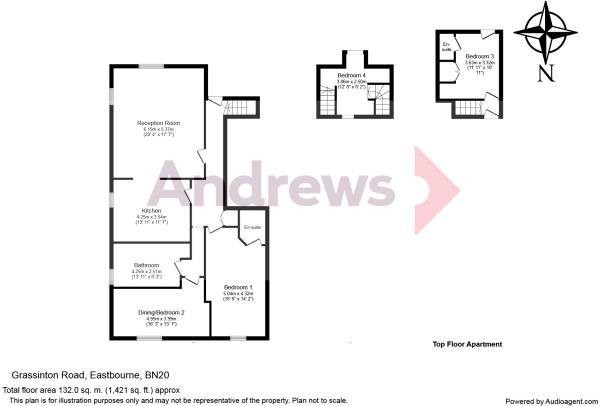 Split Level Top Floor Apartment