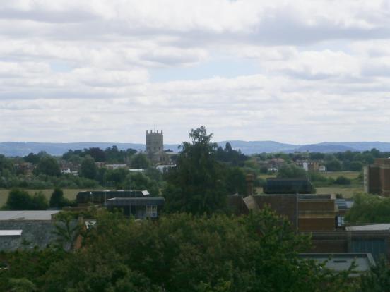 View over Tewkesbury