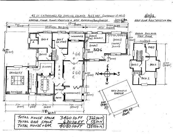 6 bedroom bungalow for sale in St Catherines Road Hayling Island. Five Bedroom Bungalow Plan