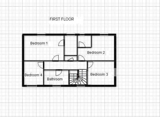 Floor Plan First Flr