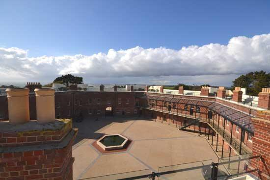 Views of courtyard from Roof