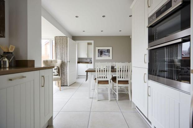 Typical Tetbury dining area leading from the fitted kitchen