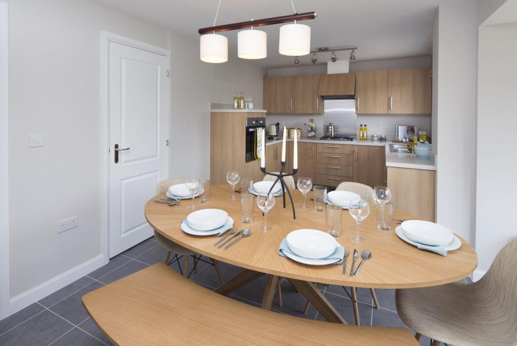 Typical Tavistock dining area and fitted kitchen