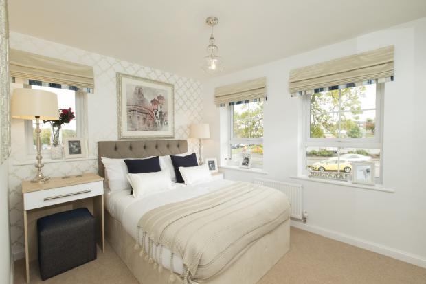 Typical bedroom interior