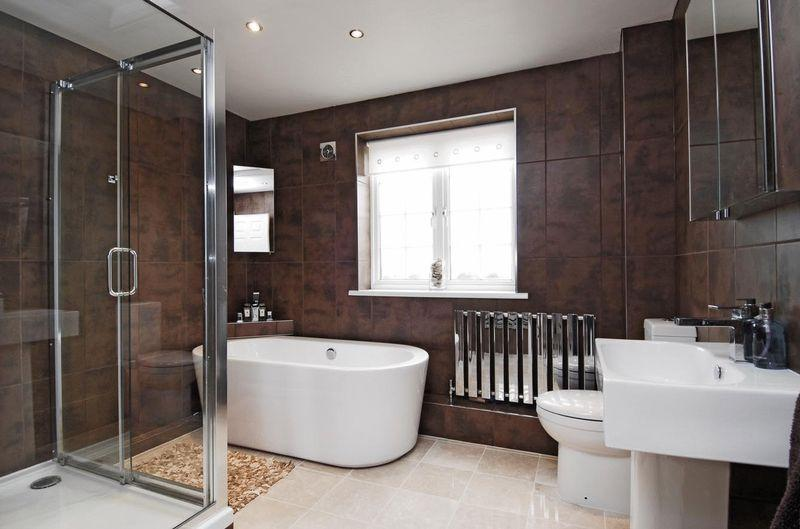 White And Brown Bathroom Ideas