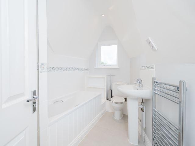 Bathroom with separa