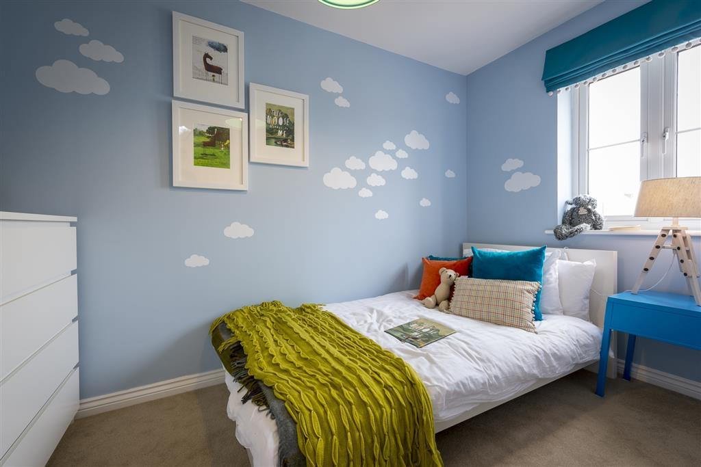 A typical Taylor Wimpey children's bedroom