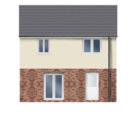 Plot 1 rear elevatio