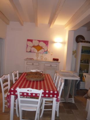 Dining area in villa