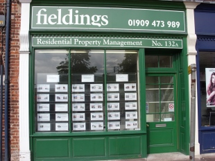 Fieldings Property Management, Worksopbranch details