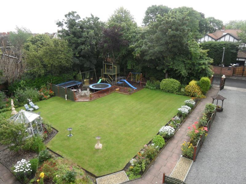 photo of garden and furniture trampoline front garden