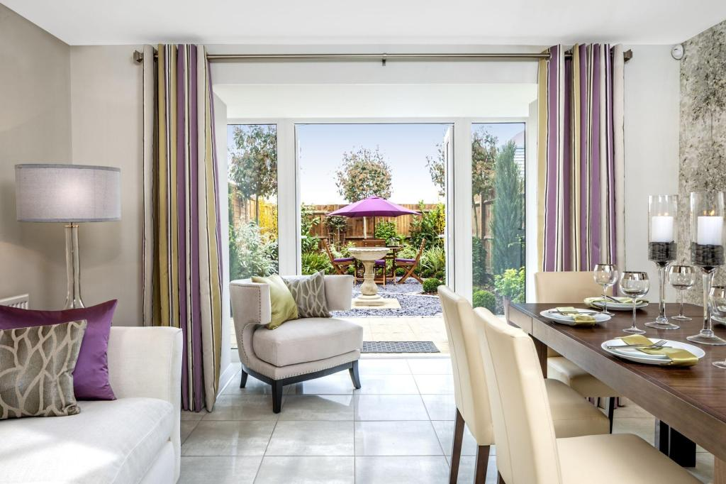 French doors from dining leading to outside space