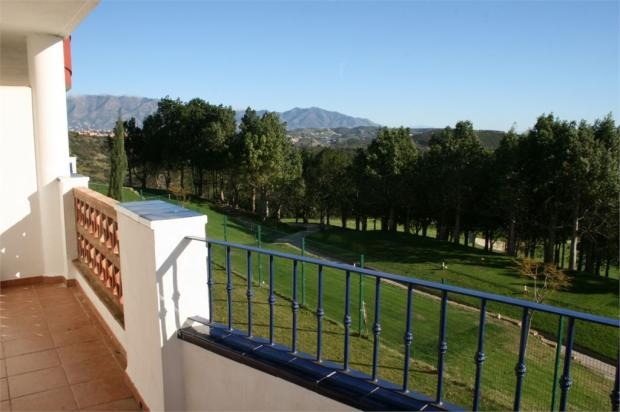 Golf and mountain views from terrace