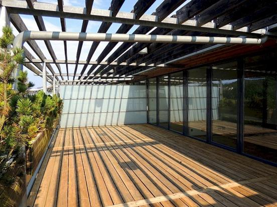 Large covered decking area