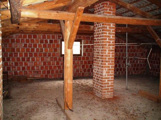 Unfinished attic