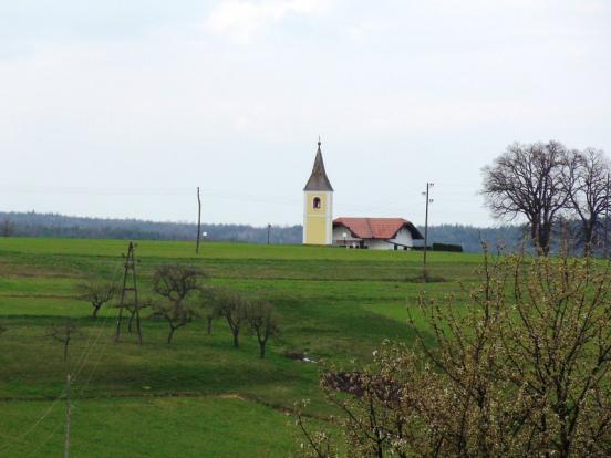 Church in the distance