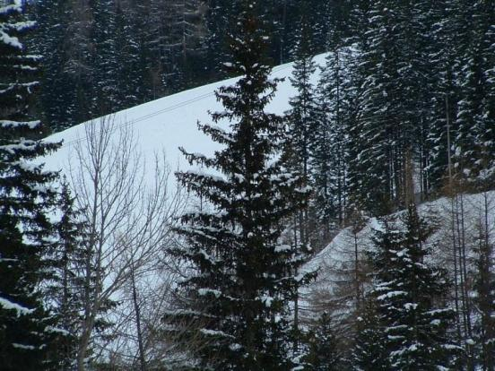 View to the ski piste