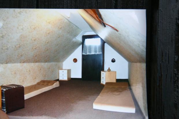 Bedroom in the attick