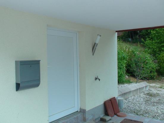 Basement entrance door