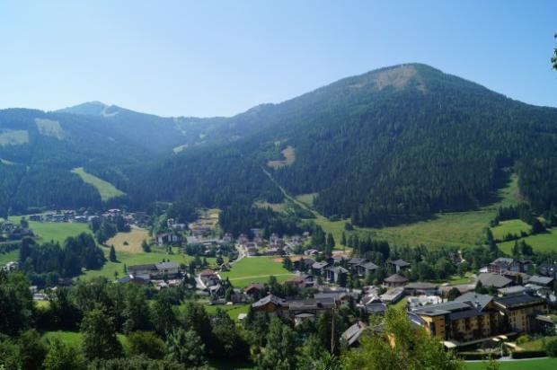 View over resort of Bad Kleinkirchheim