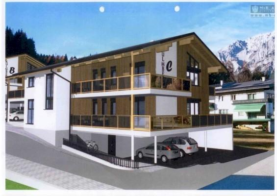 Artists impression of apartment house.